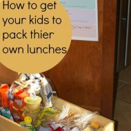 How to Get your Kids to Pack their own School Lunch