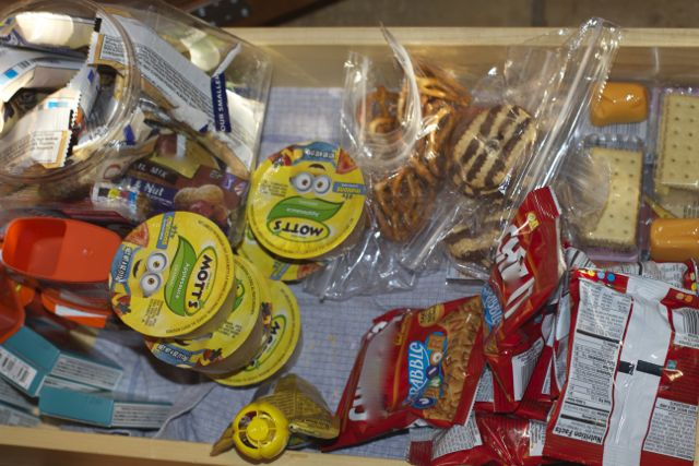 lunch snack drawer