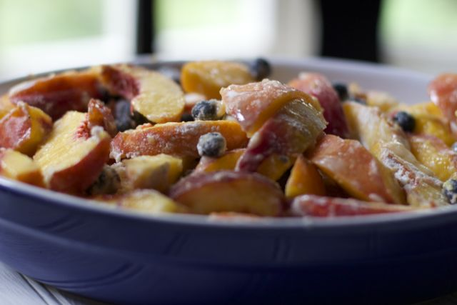 Peach blueberry crumble Recipe
