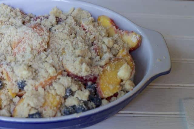 The Best Peach Blueberry crumble recipe