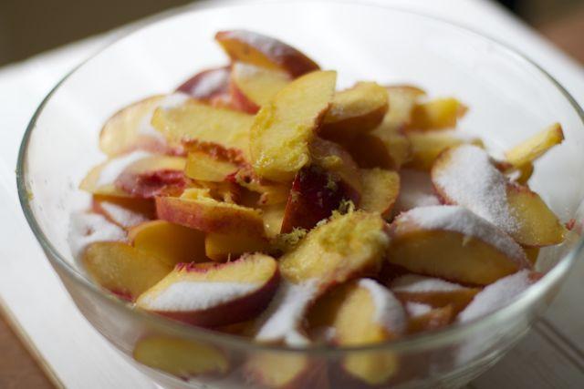 Peach blueberry crumble Recipe