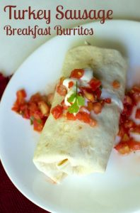 turkey sausage Breakfast burritos