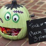 How to Make a Frankenstein Pumpkin Candy Holder