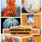 Decorating with Fake Pumpkins