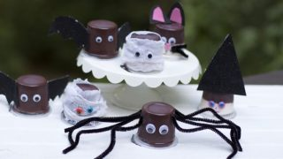 Incredibly Easy DIY Halloween Party Pudding Cups