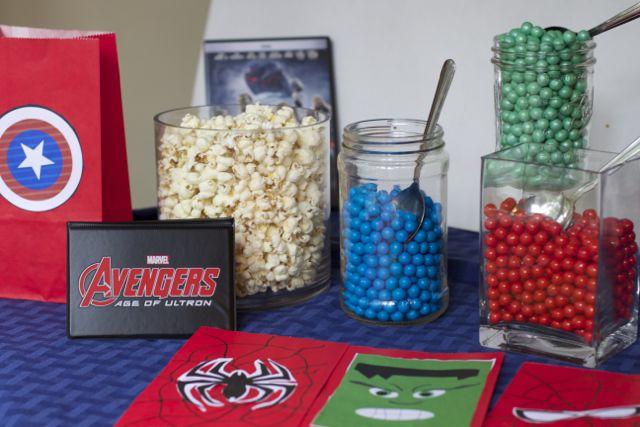 avengers popcorn bar