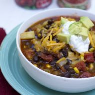 Easy 30 Minute Vegetarian Chili