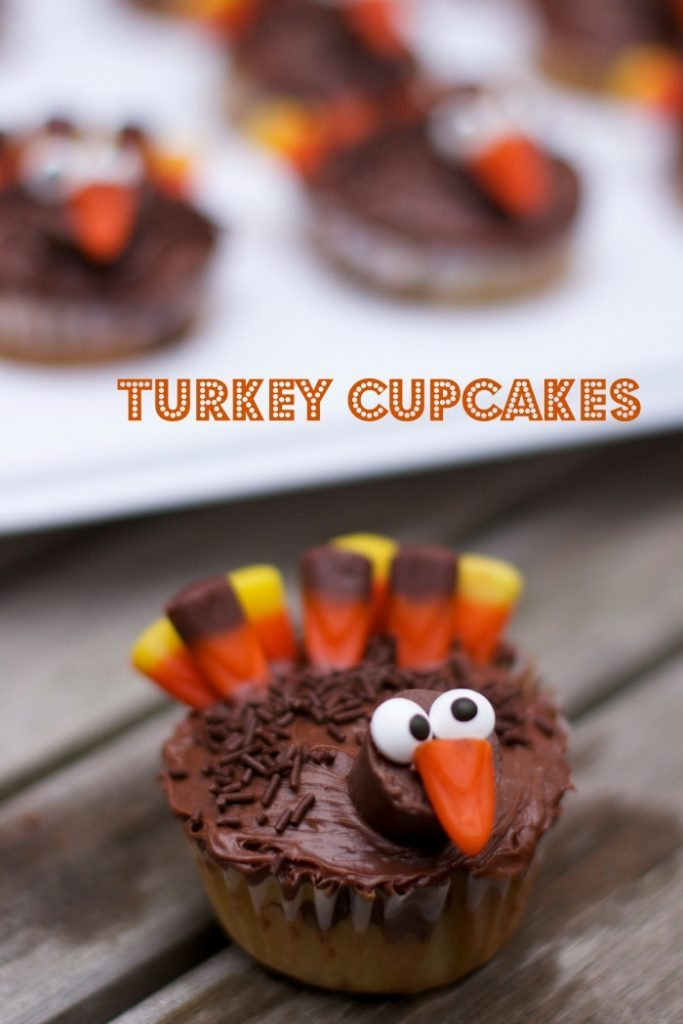 Turkey cupcakes Make Ahead Thanksgiving Sides