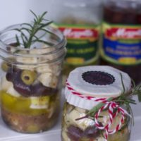 Marinated Olives and Cheese Gift in A Jar