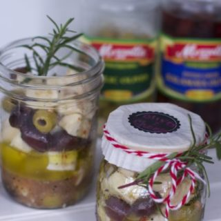 Gift in a Jar Appetizer Recipe: Marinated Olive and Cheese Recipe - Close To Home