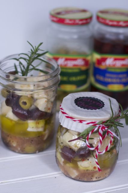 Gift in a Jar Appetizer Recipe: Marinated Olive and Cheese Recipe
