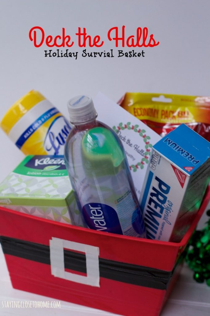 holiday survival basket