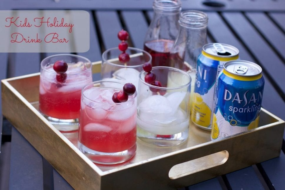 kids holiday drink bar