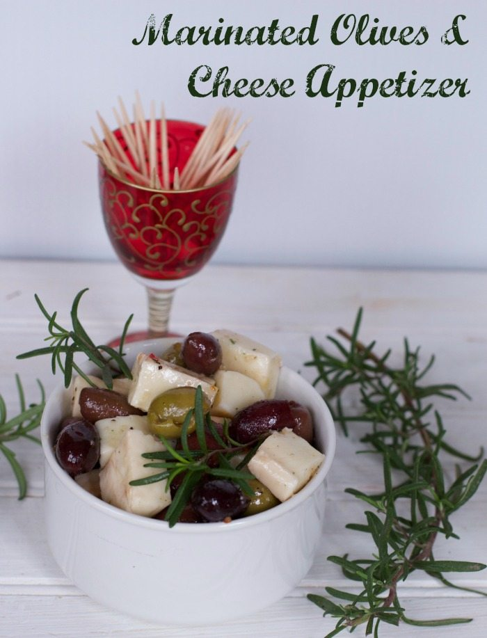 marinated olives and cheese appetizer