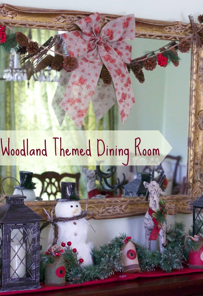 woodland themed dining room