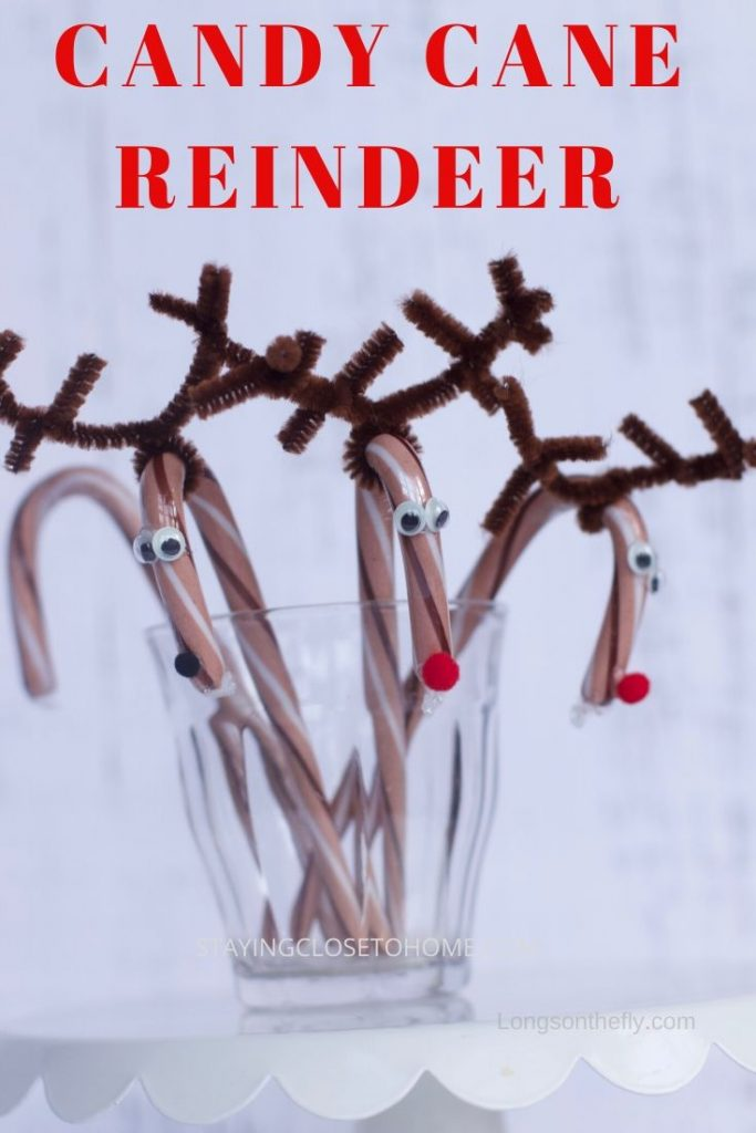 how to make candy cane reindeer