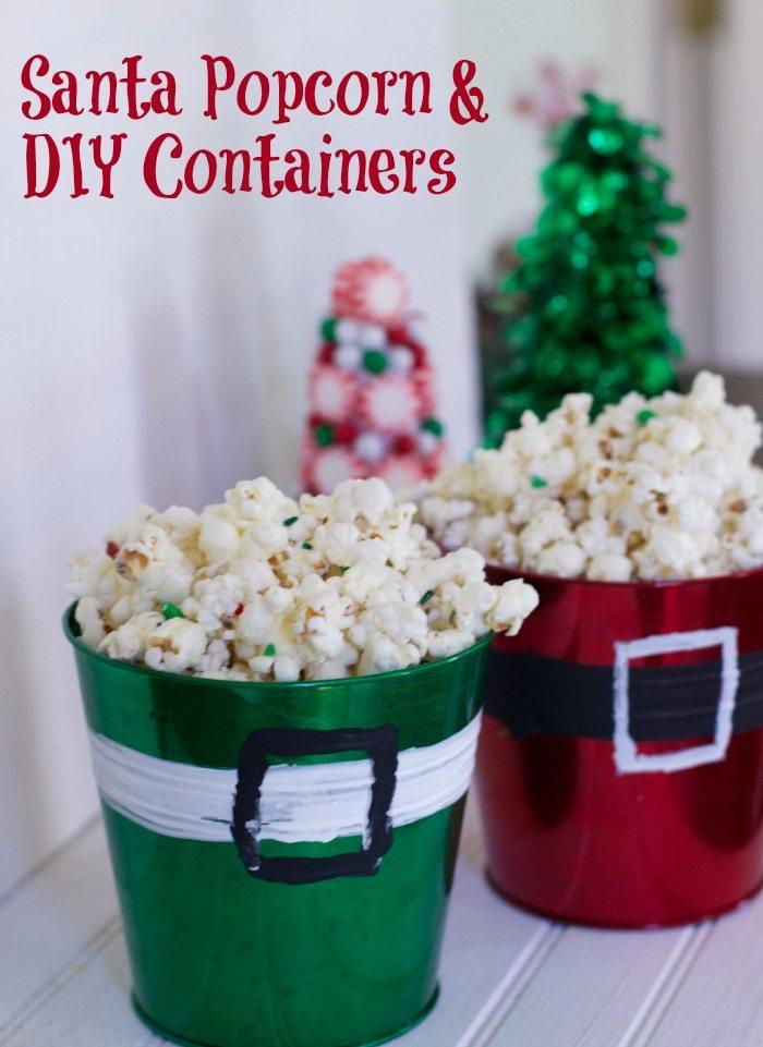 Santa popcorn.