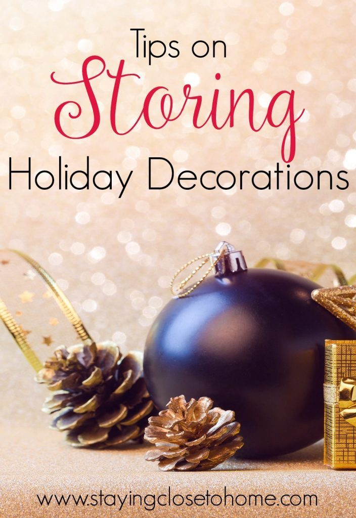 ways to store holiday decorations