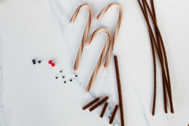 candy cane reindeer craft