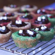 Christmas Cookies- Hot Chocolate Sugar Cookie Cups