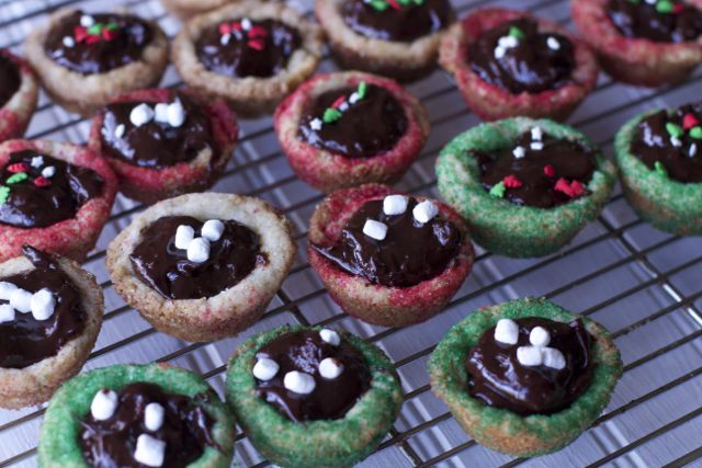 ganache filled cookies