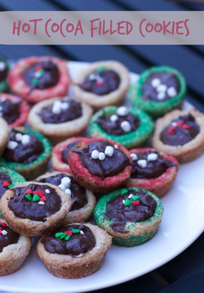 hot cocoa filled cookies