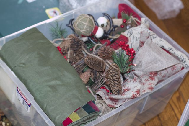 storing holiday decor