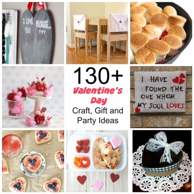 130 Valentine's Day Crafts and Valentines Day Recipes