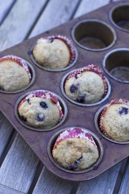 Make ahead blueberry muffins
