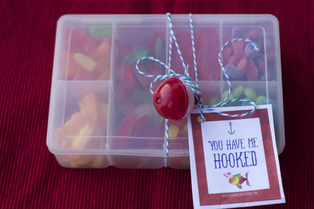 Candy Tackle Box Valentine's Day Idea