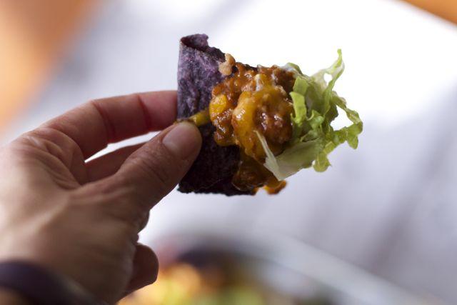 loaded chili nachos