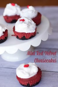 mini red velvet cheesecakes 1
