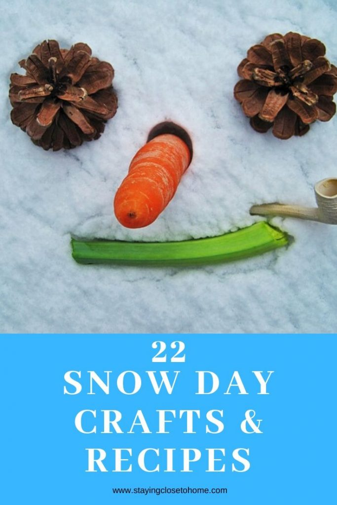 snow day crafts and recipes for kids