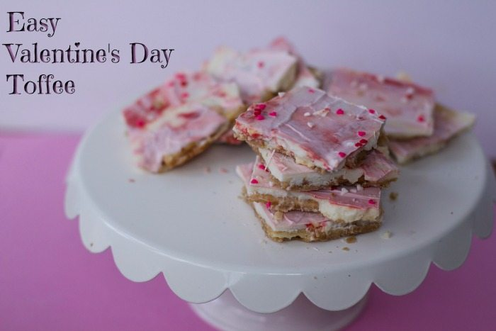 Easy Valentine's Day Saltine Toffee Recipe