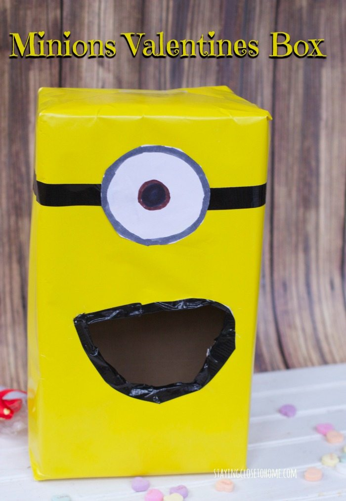 Minions Valentines Day Card Box for School