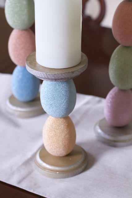 easter egg candle holder tutorial