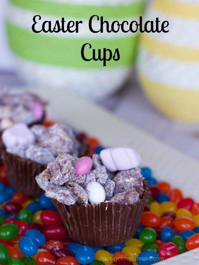 easter chocolate cups