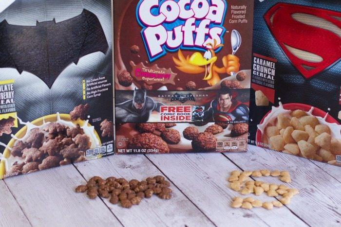 Have a Super Hero Breakfast with Superman and Batman Cereals