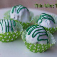 Thin Mint Truffles …. ST. PATRICK'S DAY DESSERT