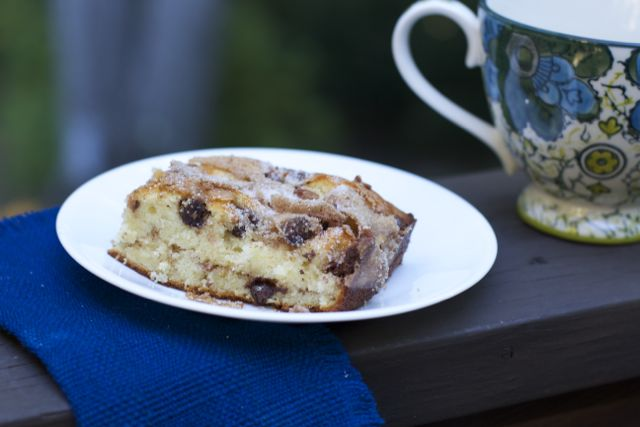 Outrageously Simple Streusel Filled Coffee Cake Recipe