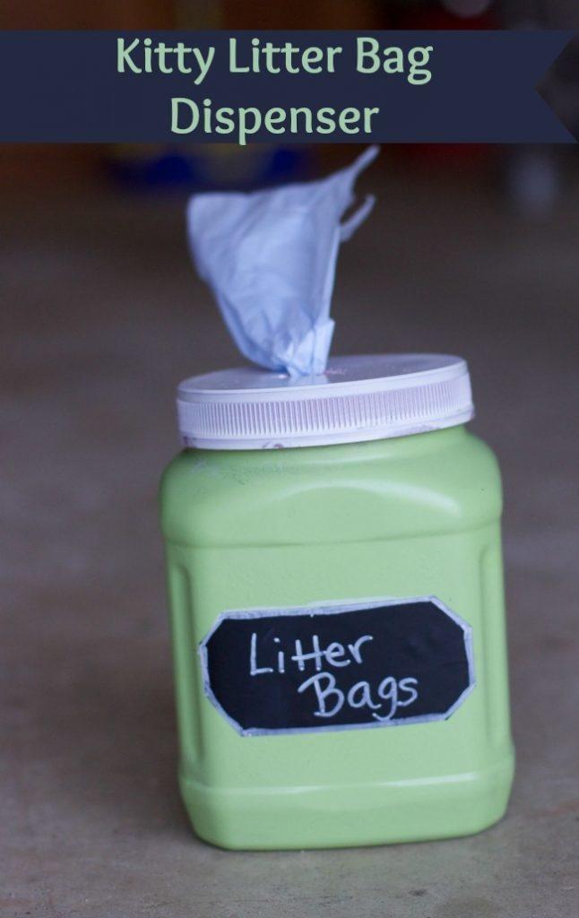 kitty litter bag dispenser