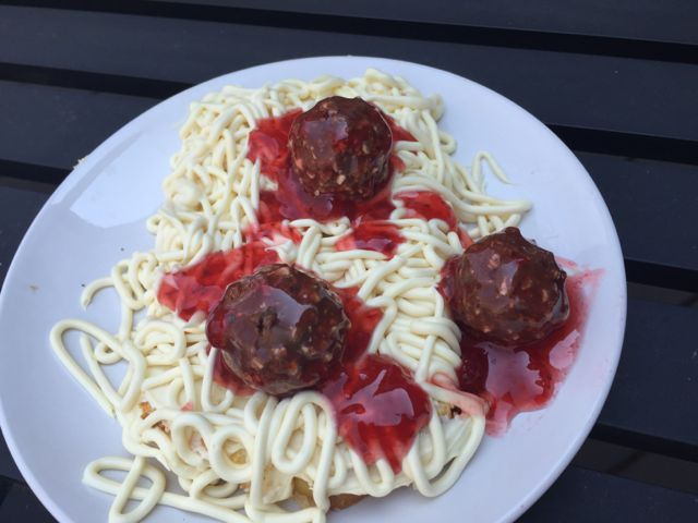 april fools day spaghetti