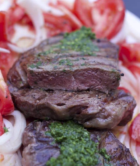 chimicurri grilled rib-eye steak PIN