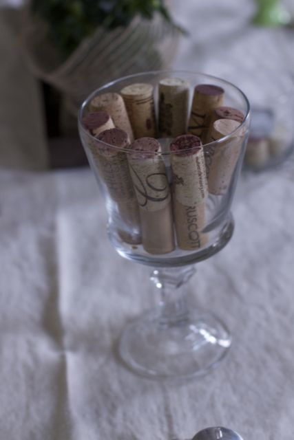 wine party cork candle holder ideas