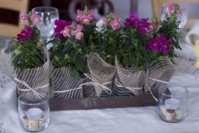 flower centerpiece: favors