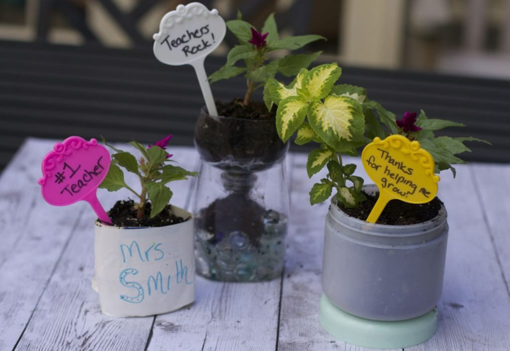 Teacher Appreciation Ideas: Recycled Planters