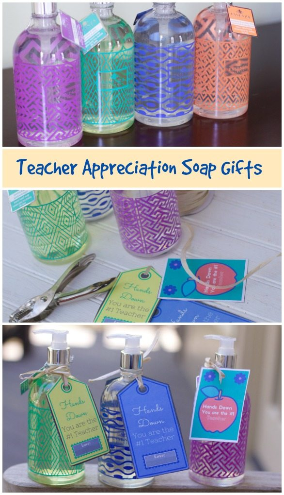 Teacher gift soap