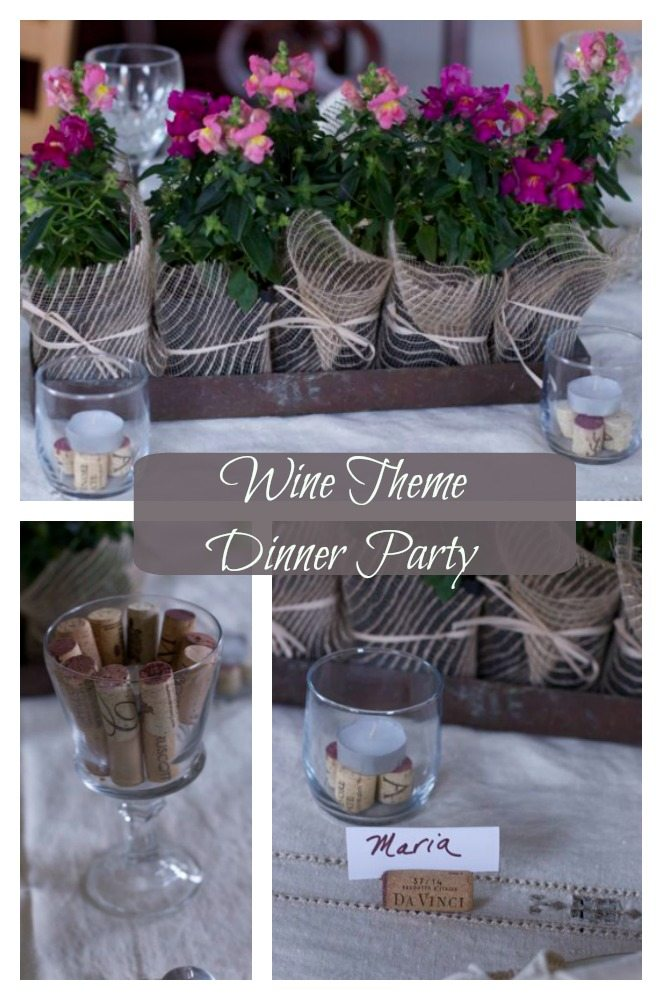 wine theme dinner party
