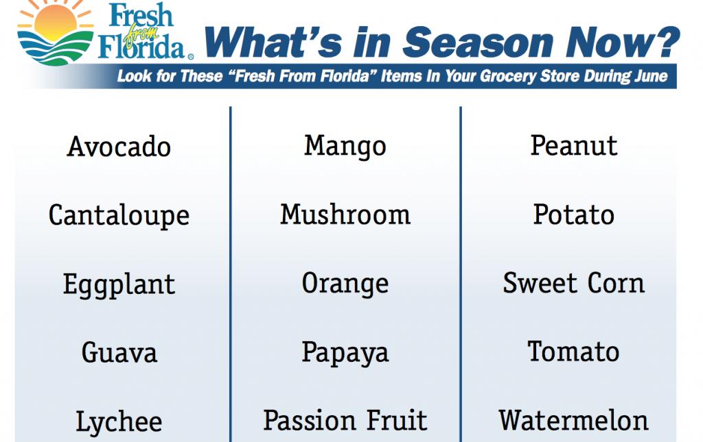 Fresh from Florida produce
