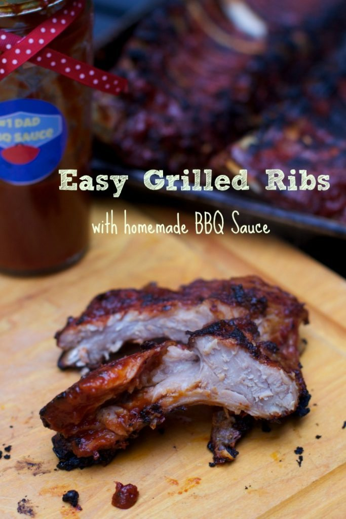 homemade BBQ Sauce is perfect on these super easy Grilled ribs recipe